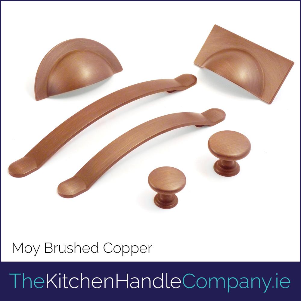 Moy Brushed Copper Metal Handle Door Knob Set The Kitchen Handle